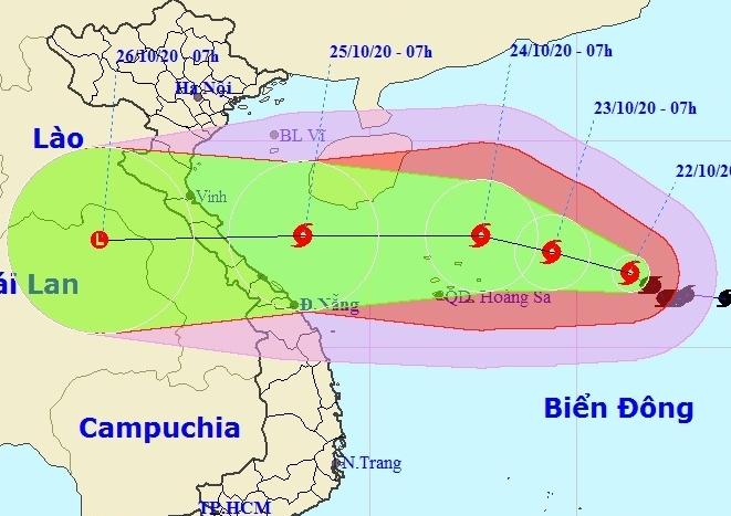 Bão số 8 tiếp tục tăng cấp, sức gió mạnh nhất khi gần quần đảo Hoàng Sa