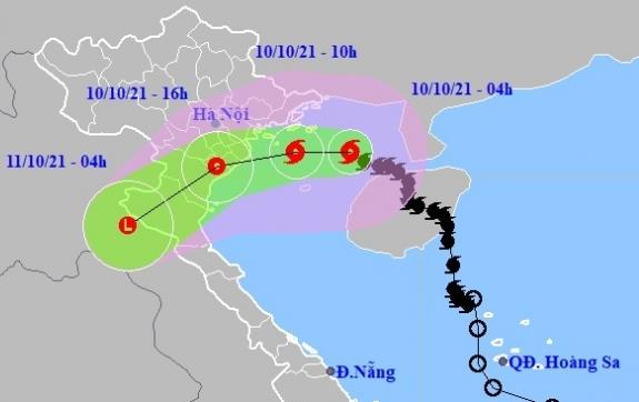 Bão số 7 gió giật cấp 10, hướng vào Nam đồng bằng Bắc Bộ và Thanh Hóa
