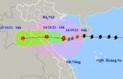 Bão số 8 giảm cấp khi vào Vịnh Bắc Bộ, hướng về vùng ven bờ Nam Định - Hà Tĩnh