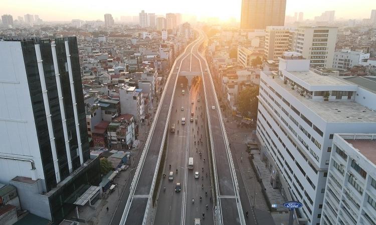 Hà Nội tính phương án đầu tư nối tiếp tuyến đường Vành đai 2 trên cao kéo dài đến Cầu Giấy