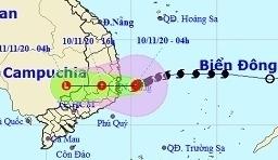 Bão số 12 mạnh nhất khi đổ bộ Bình Định - Ninh Thuận, mưa lớn tại Quảng Trị - Bắc Khánh Hòa