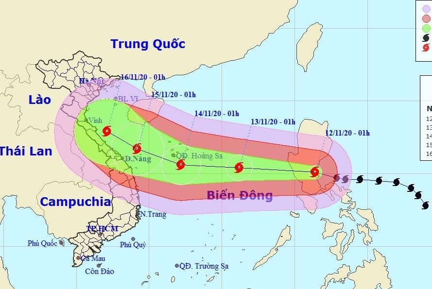 Bão Vamco liên tục giật cấp 15, đi vào Biển Đông trong 24 giờ tới