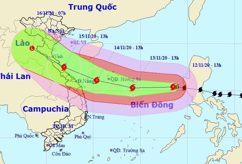 Bão số 13 liên tục giật cấp 15 trên Biển Đông, hướng vào Hà Tĩnh - Quảng Nam
