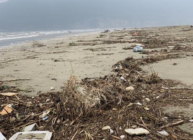 Hà Tĩnh: Hàng chục tấn rác bủa vây bãi biển sau lũ