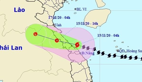 Bão số 13 sắp đổ bộ Hà Tĩnh - Thừa Thiên Huế, miền Trung mưa lớn