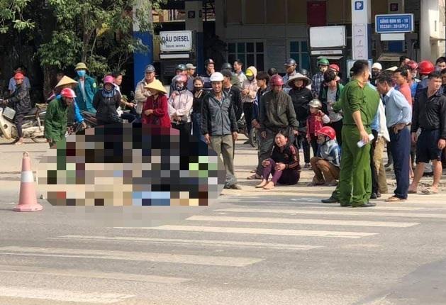Nghệ An: Truy tìm người gây va chạm khiến chủ xe máy ngã xuống đường, bị xe tải chẹn
