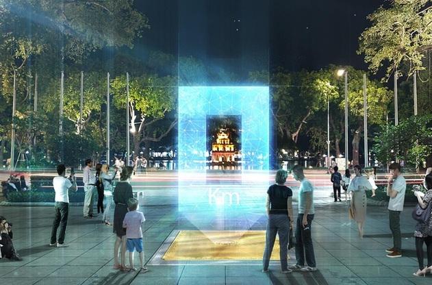 Hà Nội lấy ý kiến dân về phương án thiết kế Cột mốc số 0 bên hồ Hoàn Kiếm