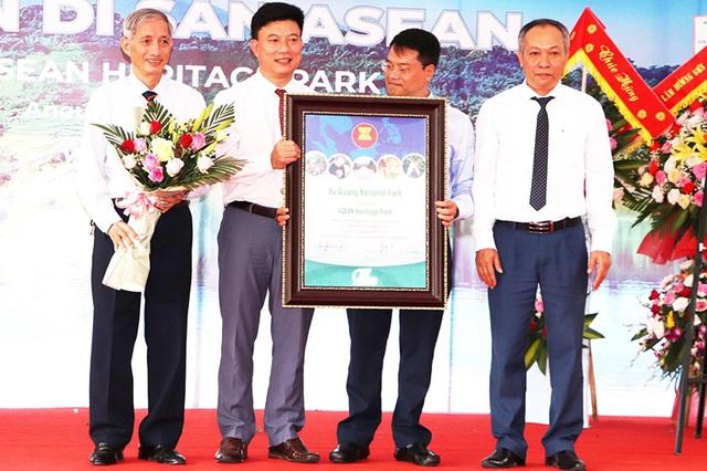 """Vườn quốc gia Vũ Quang đón nhận danh hiệu """"Vườn di sản ASEAN"""" - 2"""