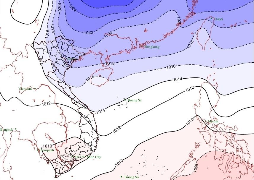 Ảnh hưởng không khí lạnh, Bắc Bộ có mưa rào nhẹ, trời chuyển lạnh