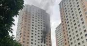 Hà Nội: Cháy tại tầng 13 chung cư Xa La