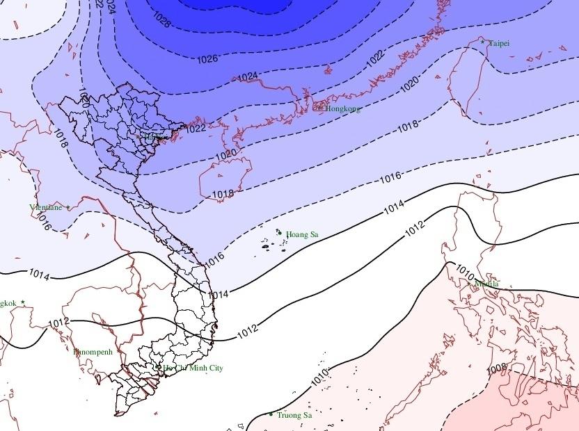 Không khí lạnh tăng cường từ đêm mai (27/11), miền Trung mưa lớn