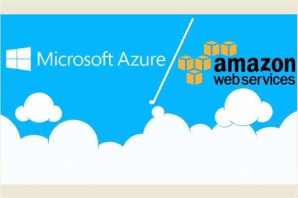 Microsoft đang gia tăng sức ép với Amazon trên thị trường điện toán đám mây.