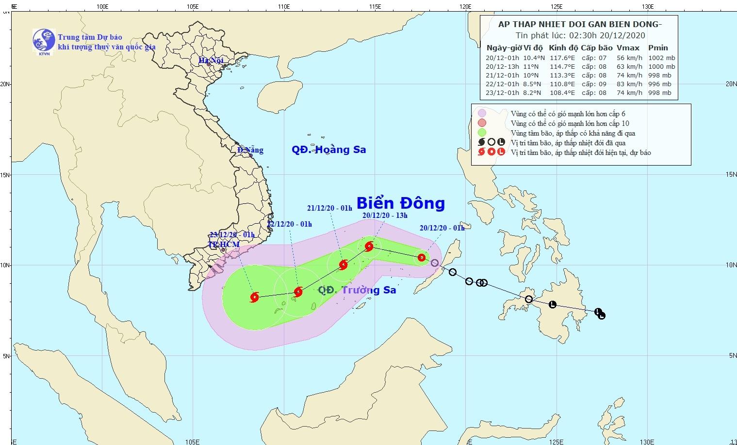 Bắc Bộ và Bắc Trung Bộ tiếp tục rét đậm, áp thấp nhiệt đới trên Biển Đông mạnh lên thành bão