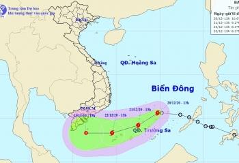 Áp thấp nhiệt đới trên Biển Đông mạnh lên thành bão số 14