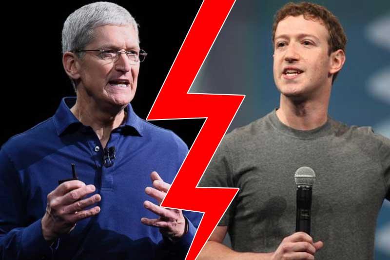 """Tại sao Apple và Facebook """"gây hấn nhau""""?"""