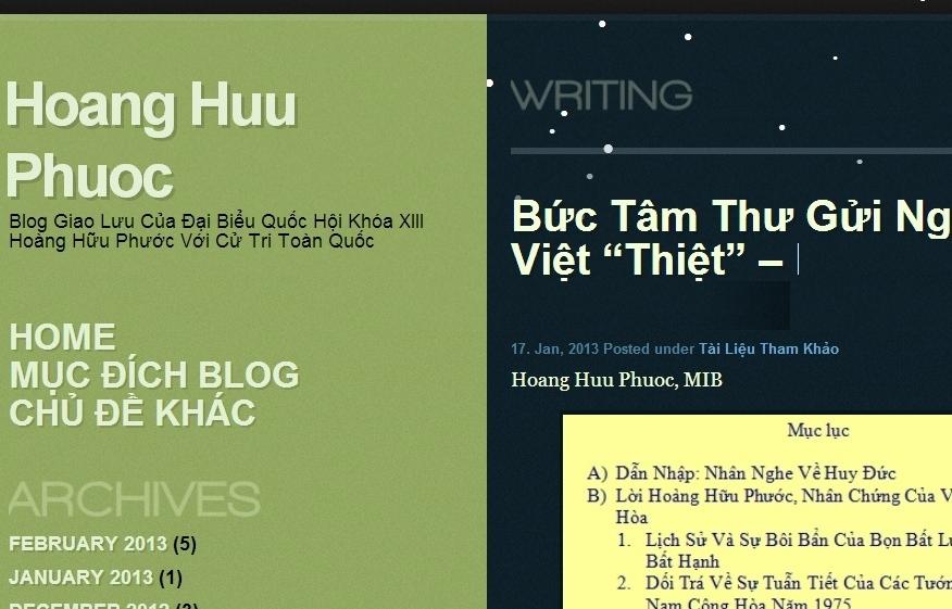 'Ông nghị' Hoàng Hữu Phước thóa mạ 'tiền nhân Việt' là 'ngu xuẩn'?!