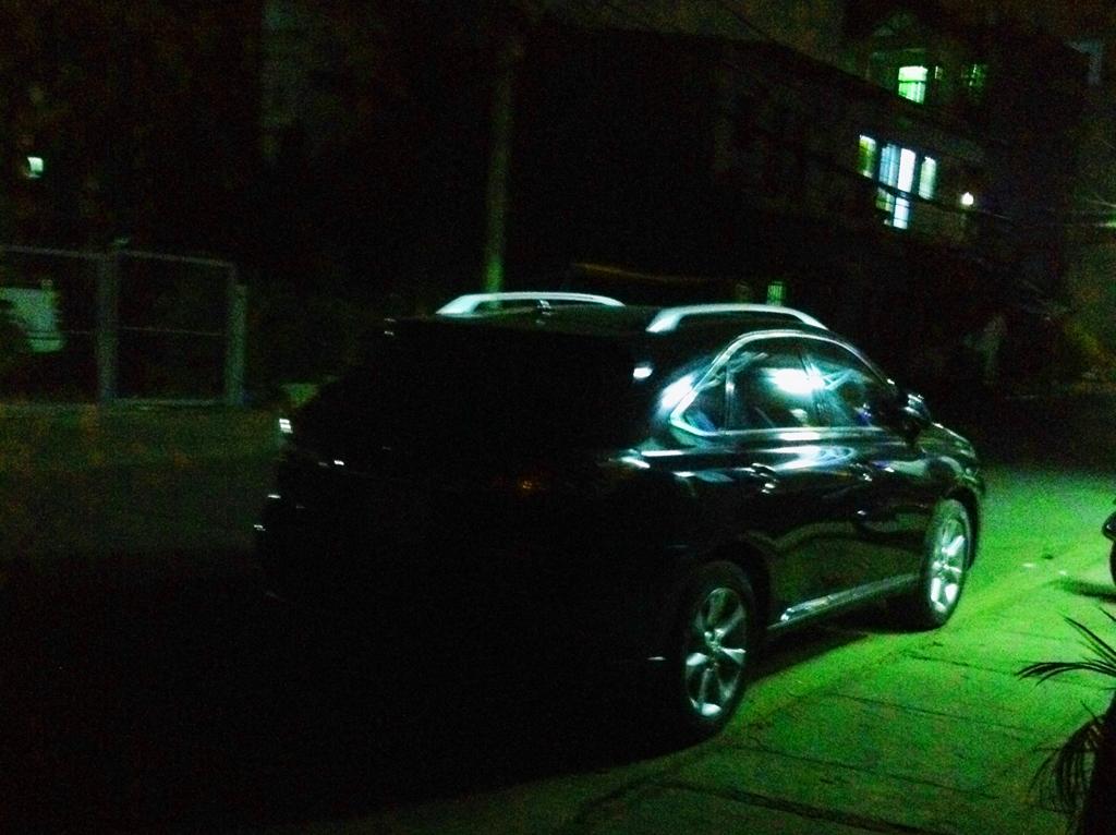 Chiếc xe ông Hòa sử dụng đỗ tại khu vực