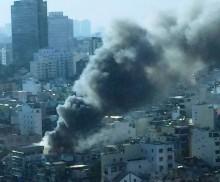 Cháy lớn khu chợ trung tâm Sài Gòn