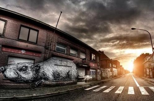 """Không gian đẹp trên đường phố: Thị trấn ma ở Bỉ trở thành """"triển lãm"""" Graffiti tuyệt đẹp"""