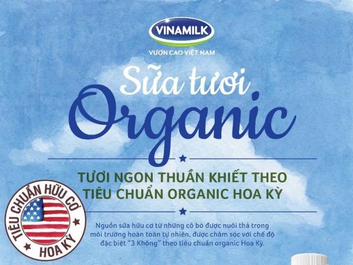 vinamilk san xuat sua tuoi organic tieu chuan my cho nguoi viet