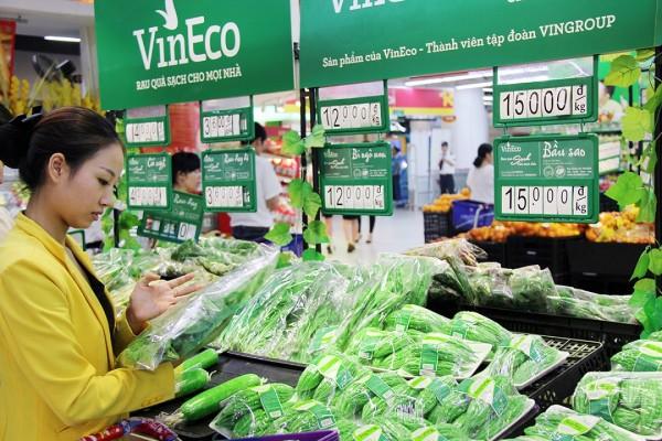 he thong vinmart chinh thuc phan phoi rau sach vineco