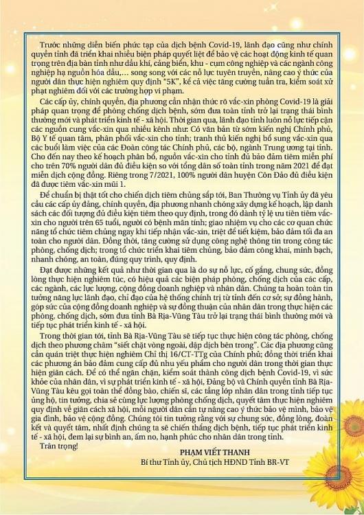 Bà Rịa – Vũng Tàu: Mỗi người dân là một chiến sĩ, mỗi gia đình - cơ quan - đơn vị - địa phương là một pháo đài chống dịch