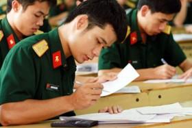 Thông tin mới nhất về tuyển sinh vào các trường Quân đội năm 2015