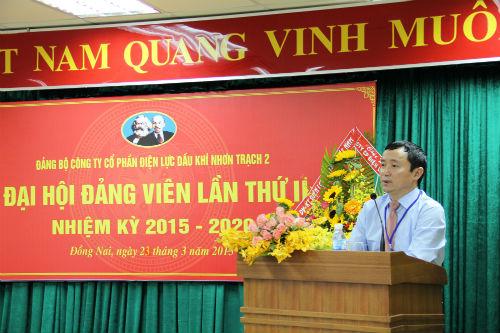 pv power nt2 to chuc thanh cong dai hoi dang bo nhiem ky 2015 2020