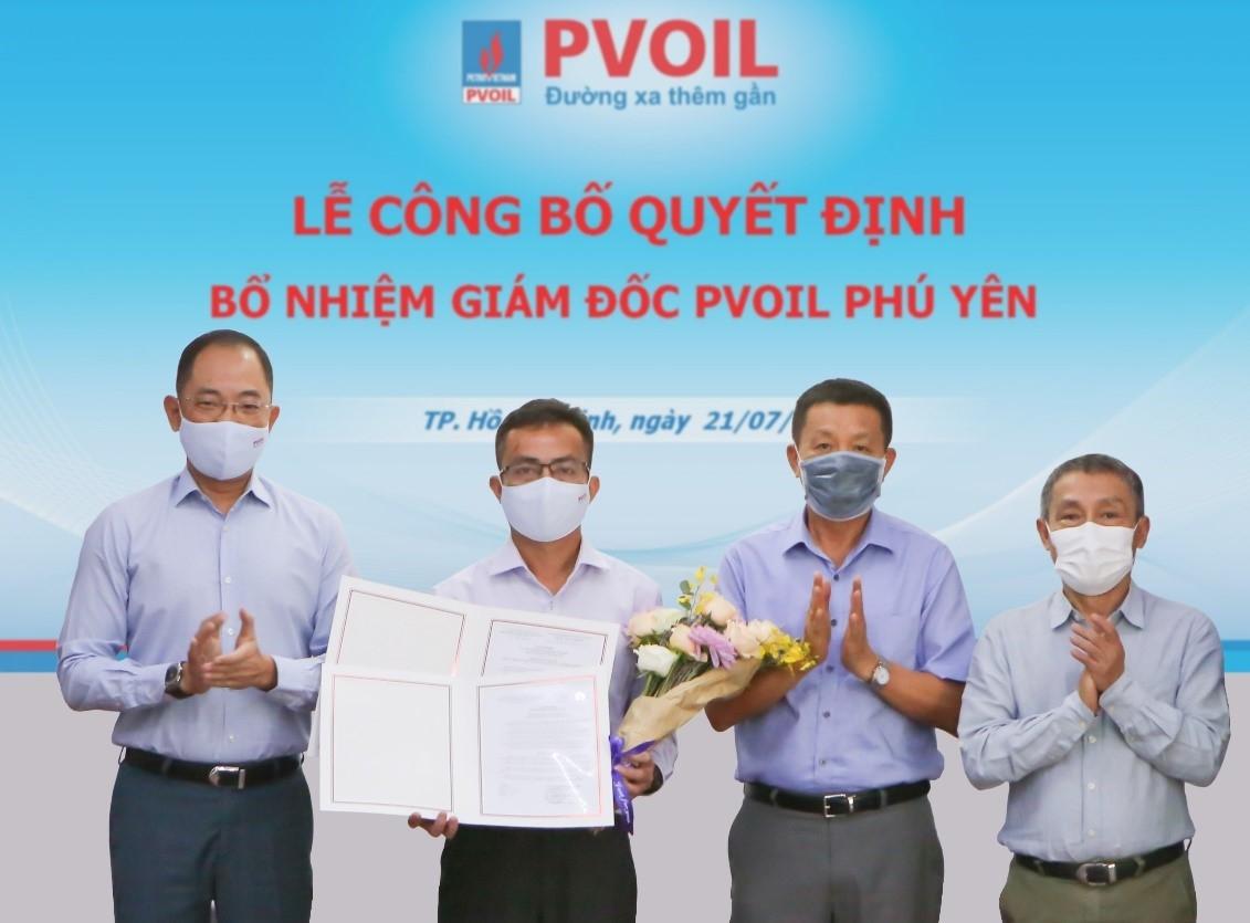 PVOIL Phú Yên và PVOIL Tây Ninh thay đổi Giám đốc Công ty