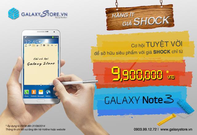 Cơ hội sở hữu Galaxy Note 3 với giá 9.990.000 đồng