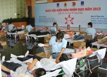 """Sôi nổi """"Ngày hội hiến máu nhân đạo"""" tại PV GAS"""