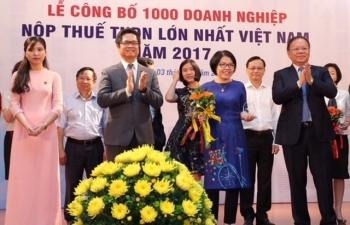 pv gas dung thu 3 trong top 1000 doanh nghiep nop thue tndn lon nhat 2017