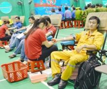 Cụm Dầu khí Tây Nam bộ tổ chức Ngày hội hiến máu nhân đạo