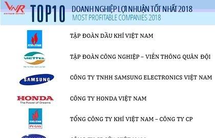 pvn dung dau top 10 doanh nghiep loi nhuan tot nhat trong nam 2018