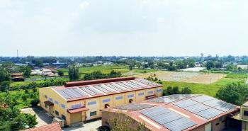 Công ty may dự kiến tiết kiệm 2,5 tỷ đồng tiền điện với hệ thống điện mặt trời áp mái