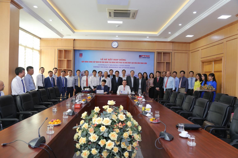 PTSC và PTSC Thanh Hóa ký kết hợp đồng vận hành đội tàu đóng mới