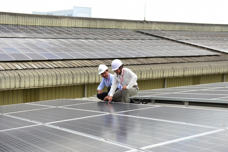 Hệ thống điện mặt trời áp mái tại Nhà máy Công ty Cát Tường