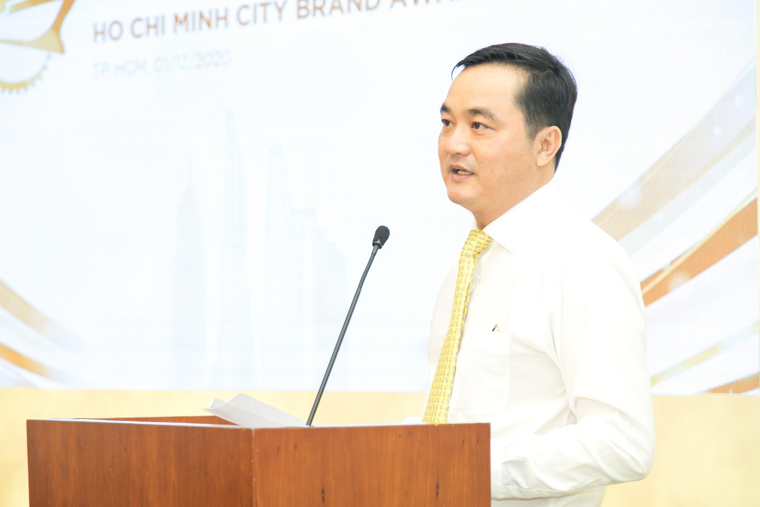 Ông Bùi Tá Hoàng Vũ - Giám đốc Sở Công thương TPHCM phát biểu tại chương trình