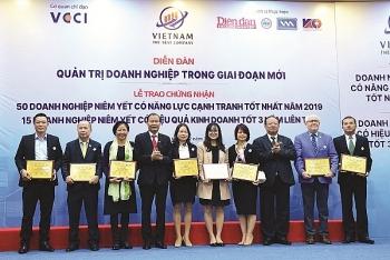 PV GAS, PVFCCo, PVI được vinh danh trong Top 50 doanh nghiệp niêm yết có năng lực cạnh tranh tốt nhất năm 2019