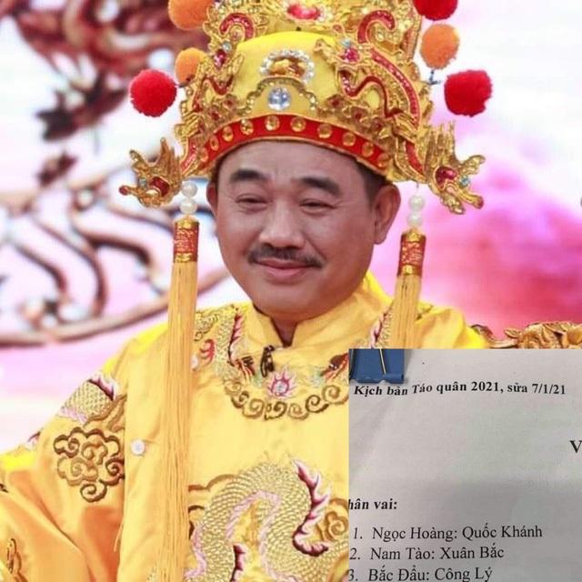 Ngọc Hoàng Quốc Khánh lộ diện ở hậu trường tập Táo Quân 2021 - 1