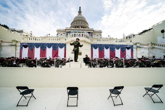 Cận cảnh buổi diễn tập cho lễ nhậm chức của ông Biden