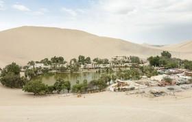 Ốc đảo xanh giữa sa mạc khô cằn ở Peru