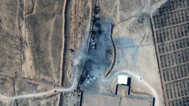 Ảnh vệ tinh lộ mức công phá của cuộc không kích đầu tiên dưới thời Biden