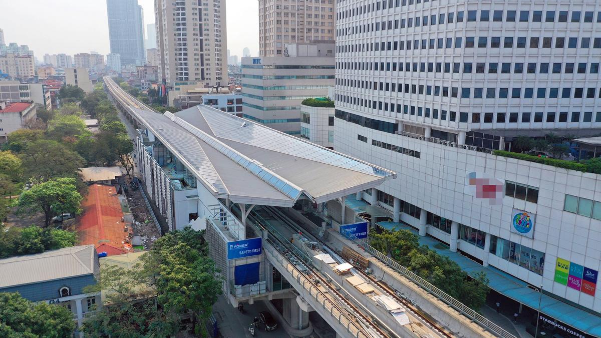 Metro Nhổn - Ga Hà Nội thi công xong đoạn trên cao