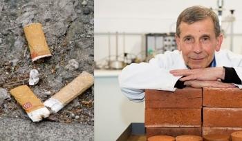 Chế tạo gạch xây dựng từ… đầu lọc thuốc lá