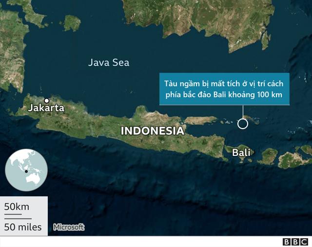 Indonesia phỏng đoán nguyên nhân tàu ngầm chở 53 người mất tích bí ẩn - 2