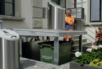 Hệ thống thùng rác ngầm ở Thụy Sĩ