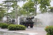 Hà Nội: Phun khử khuẩn toàn bộ Bệnh viện Bệnh Nhiệt đới cơ sở Kim Chung