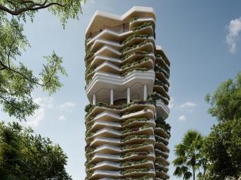 """Khu vườn thẳng đứng bên trong tòa tháp """"ruộng bậc thang"""" ở Singapore"""