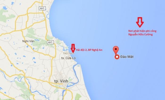 Ngư dân Nghệ An phát hiện phi công Trần Quang Khải trên biển